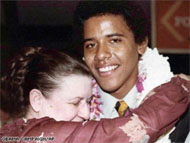This photo provided by the Obama campaign shows Obama in 1979 with his grandmother Madelyn Lee Payne Dunham.