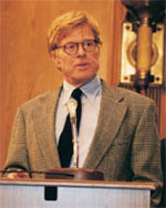 Drilling for oil is not the answer - picture of Robert Redford